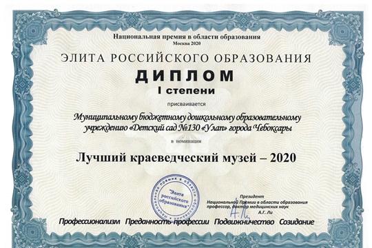 Два детских сада столицы вошли в число победителей Всероссийского конкурса «Гражданское и патриотическое воспитание в образовании»-2020