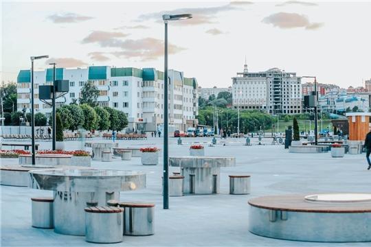 Обновленная Красная площадь в Чебоксарах открыта для прогулок