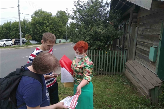 Жителям 200 домов частного сектора Чебоксар напомнили о безопасном обращении с огнем