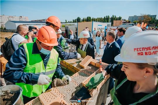 В Чебоксарах приступили к строительству школы в Садовом на 1650 учеников
