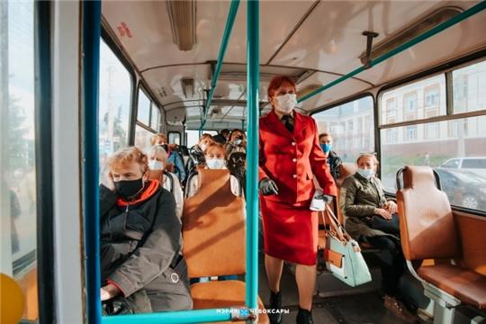 В городском транспорте Чебоксар прекращают перевозить пассажиров без средств защиты органов дыхания