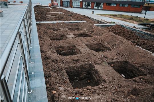 Красная площадь Чебоксар готовится к озеленению