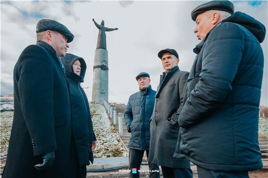 Алексей Ладыков проинспектировал строительство сооружений очистки дождевых стоков в Чебоксарах