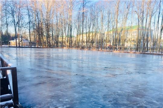 В Чебоксарах открывается первый в этом сезоне ледовый каток
