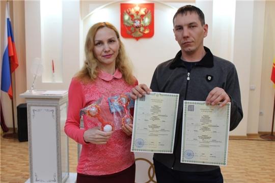 В отделе ЗАГС администрации города Канаш зарегистрирована первая «королевская» двойня