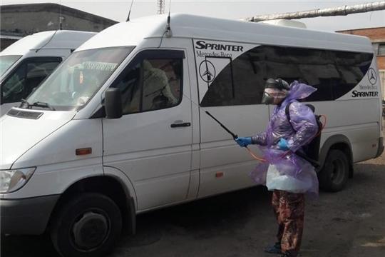Перевозчиками города Канаш ежедневно проводится дезинфекция салонов транспортных средств маршрутов регулярных пассажирских перевозок