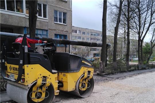 В городе Канаш продолжается ремонт дворовых территорий