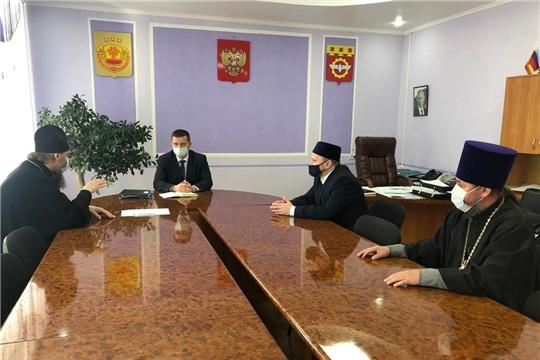 Глава администрации города Канаш Виталий Михайлов встретился с духовными лидерами по вопросам организации предстоящих праздников двух конфессий