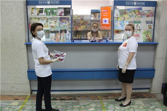 Волонтёрами и добровольцами города Канаш проведена акция «Российская ленточка»»