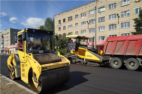 Продолжаются работы по реконструкции автомобильной дороги ул. Фрунзе