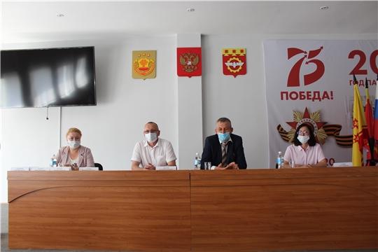 Министр физической культуры и спорта Чувашской Республики Василий Петров с рабочим визитом посетил г. Канаш
