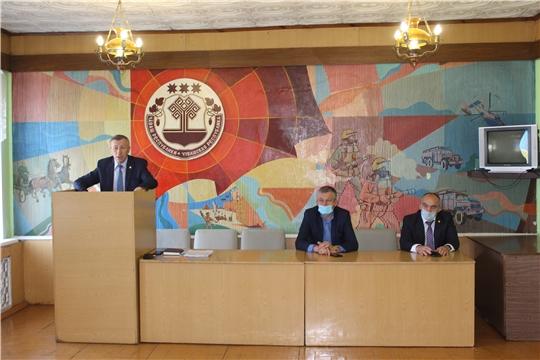 Председатель ГКЧС Чувашии Вениамин Петров с рабочим визитом посетил город Канаш