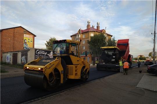В городе Канаш продолжаются работы по ремонту автомобильной дороги «ул. Свободы»