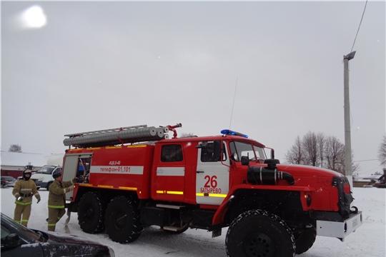 Как проходили пожарно-тактические учения в селе Батырево