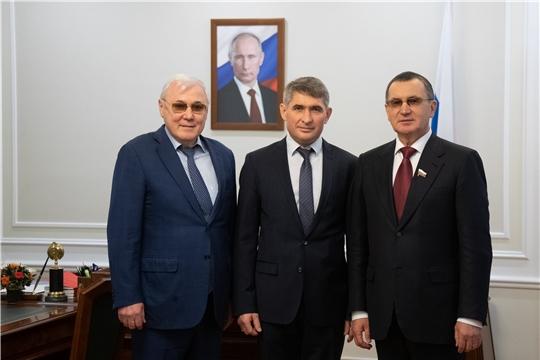 Олег Николаев в Москве встретился с Николаем Федоровым и Анатолием Аксаковым