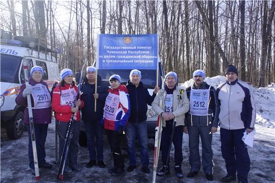Команда ГКЧС Чувашии присоединилась к стартам «Лыжня России-2020»