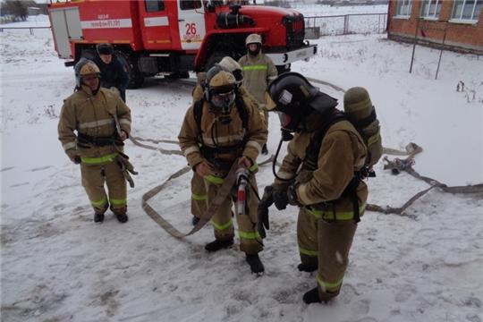 В селе Батырево условный пожар успешно потушен