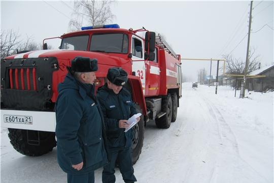 Профилактические мероприятия огнеборцев республиканского ГКЧС в Красноармейском районе