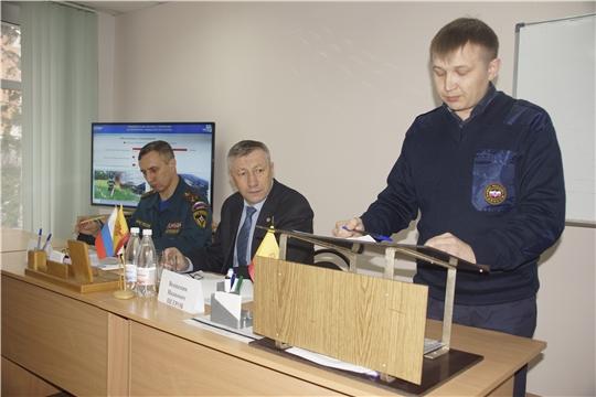 В ГКЧС Чувашии обсуждены вопросы мониторинга и прогнозирования чрезвычайных ситуаций