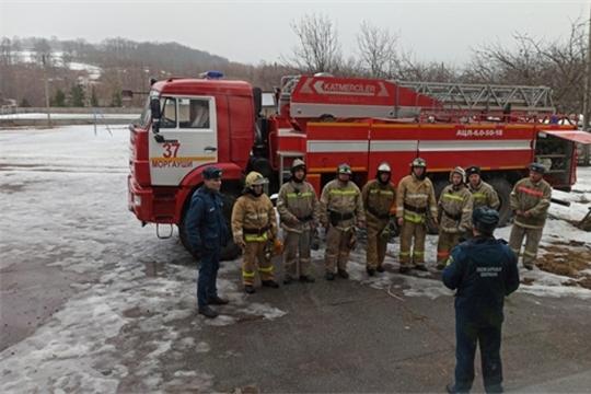 Пожарно-тактические учения в Моргаушах