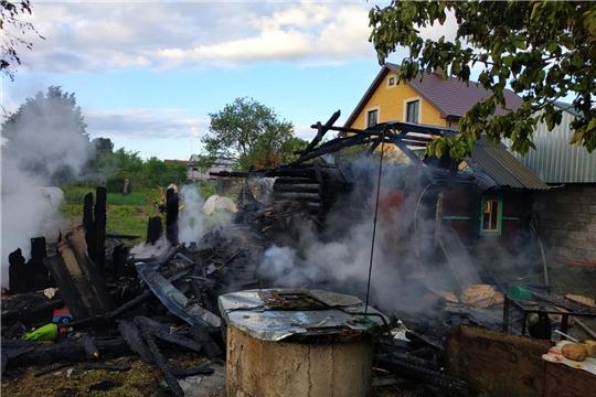 10 пожаров произошло за прошлые сутки в Чувашии