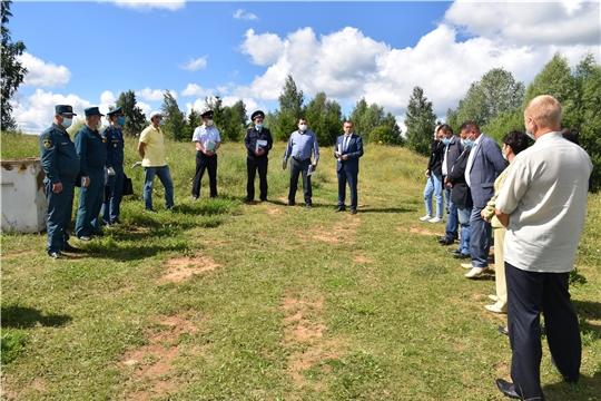 Выездное рабочее совещание по вопросу фактов гибели людей  на воде в Моргаушском районе