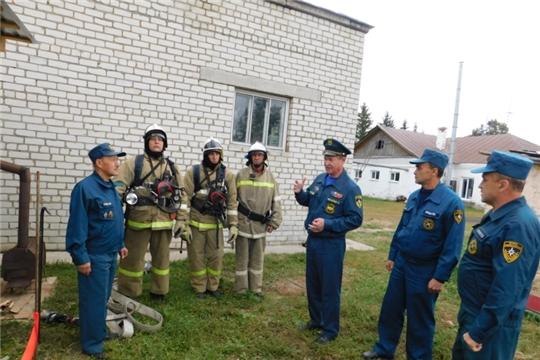 В ПЧ-25 по охране с. Аликово противопожарной службы ГКЧС Чувашии состоялось открытие дымокамеры