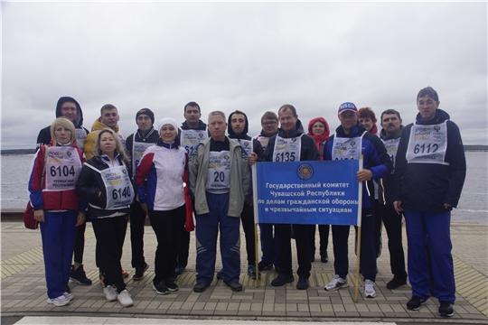 ГКЧС Чувашии принял участие на массовом забеге «Кросс нации»
