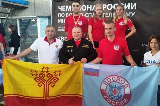 Команда Чувашии стала призером чемпионата России по водно-спасательному многоборью