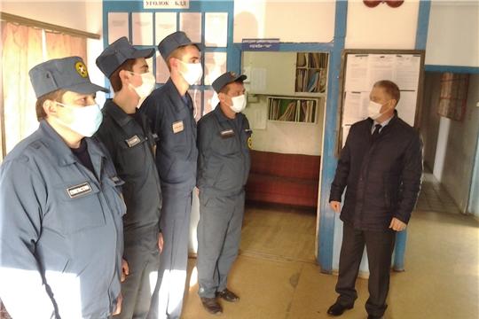 Зампредседателя госкомитета Николай Иванов посетил пожарные части в Порецком и Алатырском районах