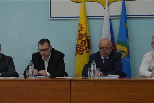 Рабочий визит Виктора Кочеткова и Александра Героева в Мариинско-Посадский район