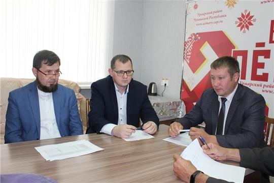 Виктор Кочетков посетил Урмарский район с рабочим визитом
