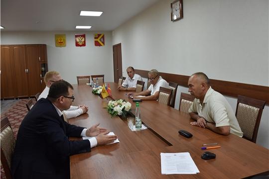 Рабочий визит Виктора Кочеткова в Красноармейский район