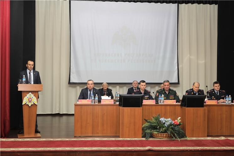 Михаил Игнатьев поблагодарил Управление Росгвардии по Чувашской Республике за результативную работу