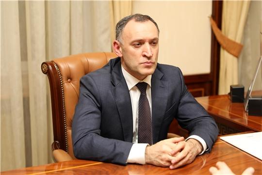 Рабочая встреча с директором Ассоциации кластеров и технопарков России Андреем Шпиленко