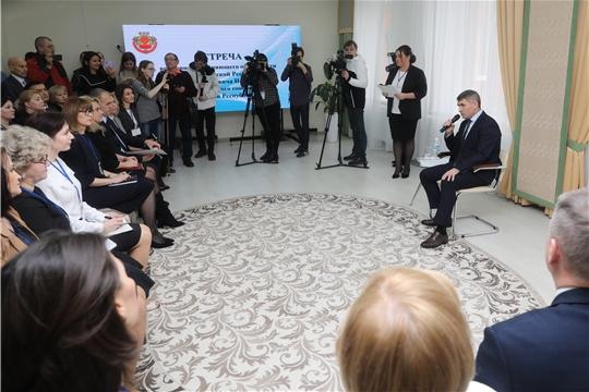 Встреча врио Главы Чувашии Олега Николаева с руководителями дошкольных образовательных учреждений региона