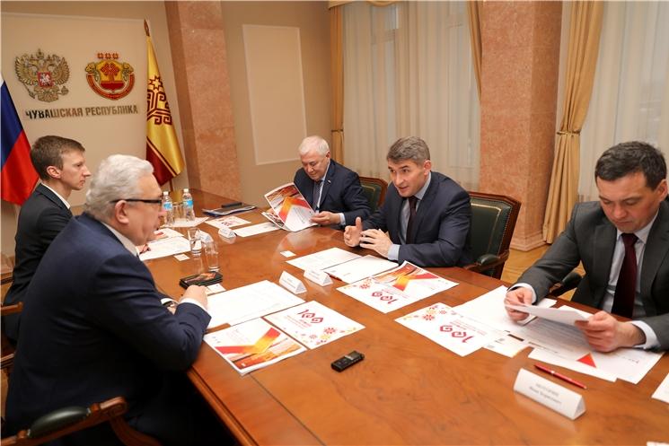 Олег Николаев выступил за расширение присутствия товаров производителей из Чувашии в федеральных торговых сетях