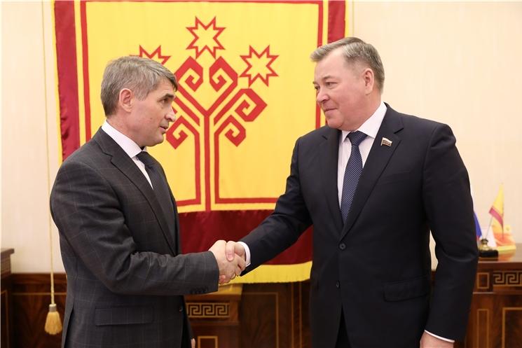 Олег Николаев планирует регулярно встречаться с представителями Чувашии в Госдуме России