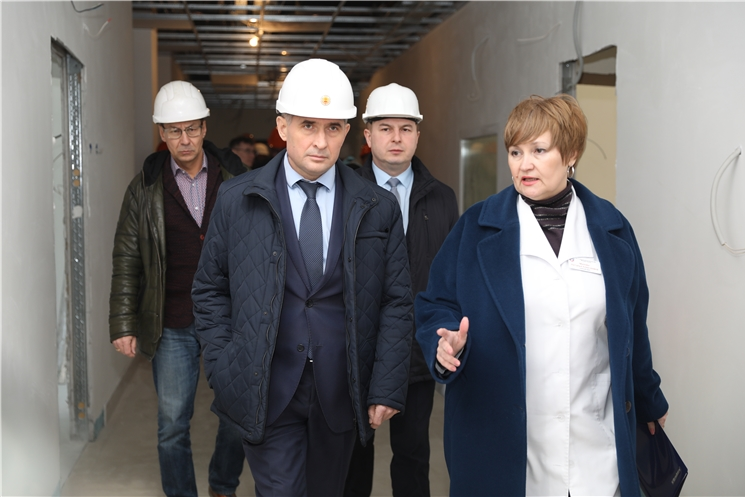 Врио Главы Чувашии взял под личный контроль сроки завершения строительства нового корпуса детской инфекционной больницы