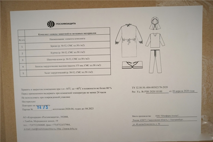 Для медиков Чувашии поступили защитные костюмы