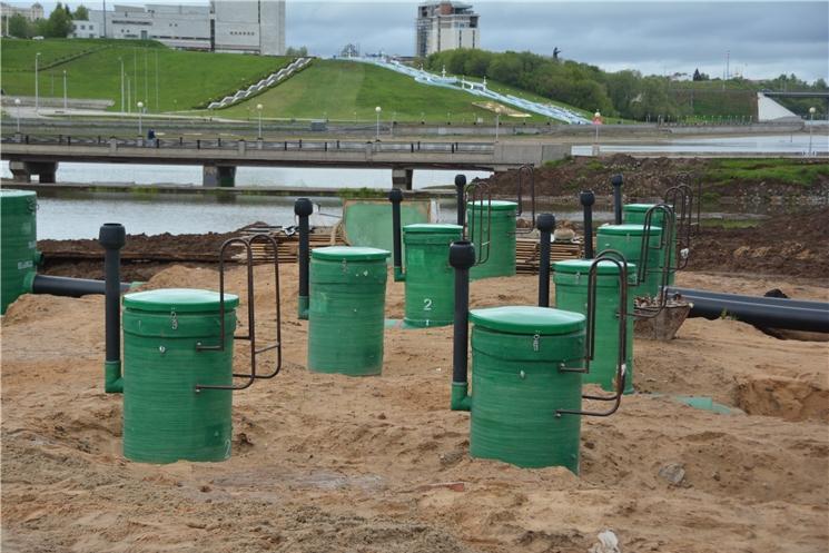 Строительство очистных сооружений на чебоксарском заливе завершат к концу осени