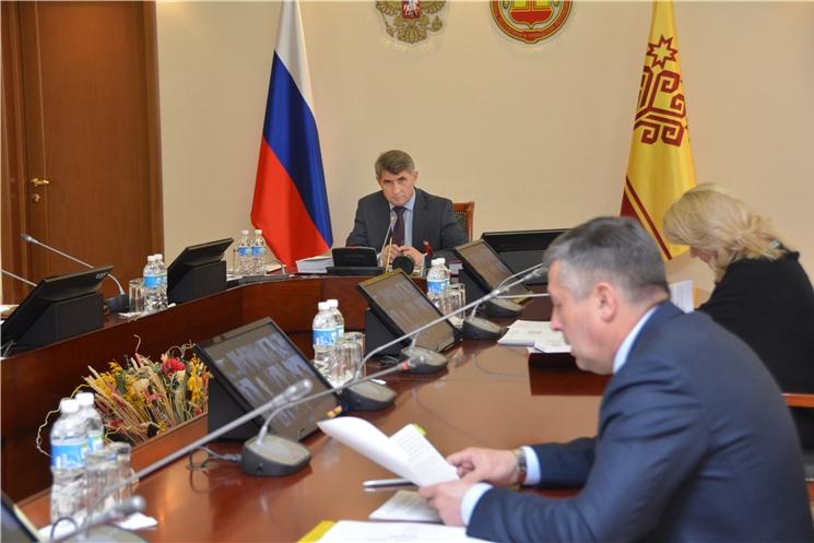 Заседание Кабинета Министров Чувашской Республики