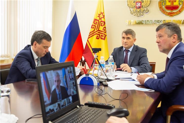 Олег Николаев обсудил с министром транспорта России реконструкцию Чебоксарского аэропорта и капитальный ремонт мостов