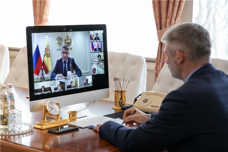 Евгений Дитрих провел рабочую встречу с врио главы Чувашии
