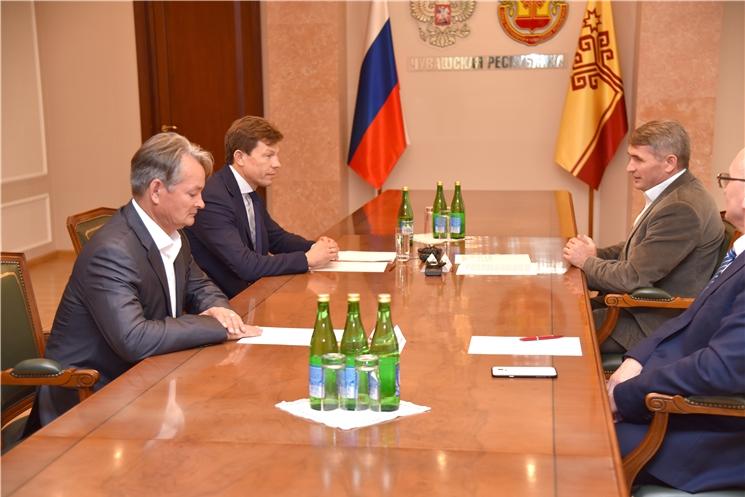 Рабочая встреча с Президентом Союза биатлонистов России Виктором Майгуровым
