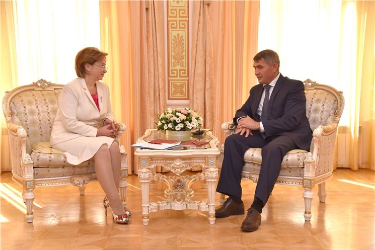 Олег Николаев провел встречу с заместителем Министра культуры России Ольгой Яриловой