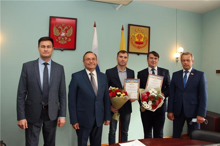 Геннадий Федоров наградил молодых ученых Чувашского госуниверситета