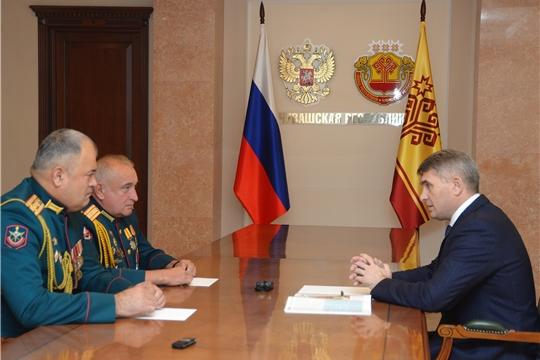 Встреча с военным комиссаром Чувашской Республики Бахтиёром Холиковым