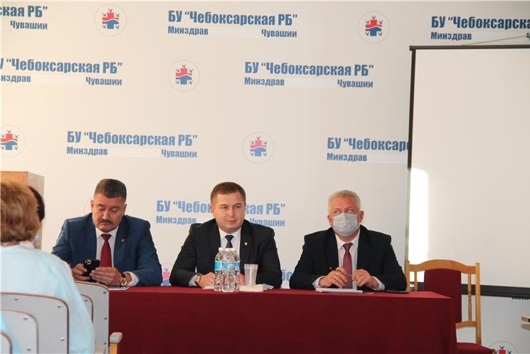 Рабочий визит министра здравоохранения Чувашской Республики в Чебоксарскую районную больницу