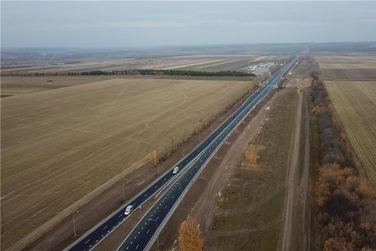 В Козловском районе  открыто движение по капитально отремонтированному участку федеральной  трассы М-7